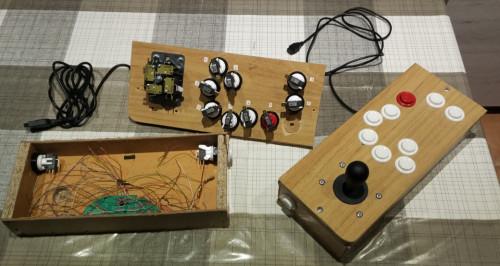 11 button (8 different, 2+1 shared) JoyStick MSX JoyMega compliant DIY