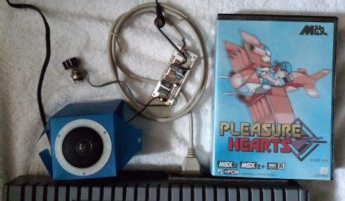 +PCM unit connected to MSX, Pleasure Hearts package